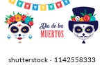 dia de los muertos  day of the... | Shutterstock .eps vector #1142558333