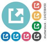 external link flat white icons... | Shutterstock .eps vector #1142558450