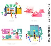 business people conceptual... | Shutterstock .eps vector #1142564243