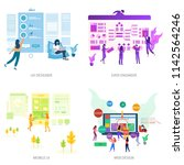 business people conceptual...   Shutterstock .eps vector #1142564246