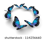 Stock photo butterflys isolated on white d illustration 114256660