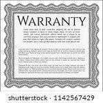 grey vintage warranty...   Shutterstock .eps vector #1142567429