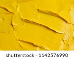 Yellow Oil Paint As A Background