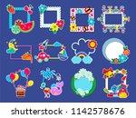 kids frame vector childish... | Shutterstock .eps vector #1142578676