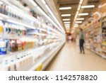 abstract blur supermarket... | Shutterstock . vector #1142578820