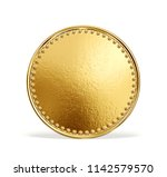 gold coin sign isolated on a... | Shutterstock . vector #1142579570