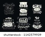 set of hand written... | Shutterstock .eps vector #1142579939