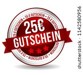 25 euro coupon button   online... | Shutterstock .eps vector #1142580956