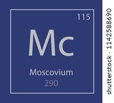 moscovium mc chemical element... | Shutterstock .eps vector #1142588690