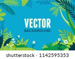 vector illustration in trendy... | Shutterstock .eps vector #1142595353