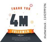 thank you follower. online... | Shutterstock .eps vector #1142599196