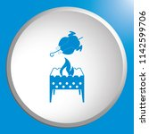 brazier and chicken icon.... | Shutterstock .eps vector #1142599706