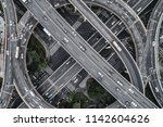 aerial view of highway and... | Shutterstock . vector #1142604626