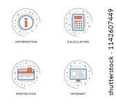 information  calculating ... | Shutterstock .eps vector #1142607449