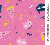 pink playful pattern. | Shutterstock .eps vector #1142608370