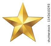 gold star vector  | Shutterstock .eps vector #1142610293