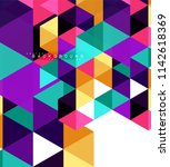multicolored triangles abstract ... | Shutterstock .eps vector #1142618369