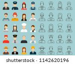 people of different occupations....   Shutterstock .eps vector #1142620196