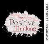 vector conceptual positive... | Shutterstock .eps vector #1142621366
