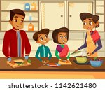 cartoon indian family... | Shutterstock . vector #1142621480