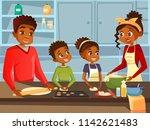 afro american black family... | Shutterstock . vector #1142621483