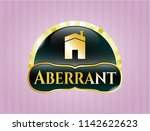 gold emblem or badge with...   Shutterstock .eps vector #1142622623
