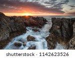 beautiful sunset over the...   Shutterstock . vector #1142623526
