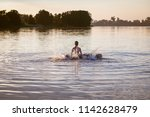 kids jumping  swimming and... | Shutterstock . vector #1142628479