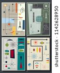vector set of space posters mid ... | Shutterstock .eps vector #1142628950