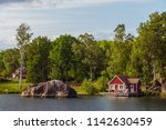 View On Red Holiday Cabin By A...