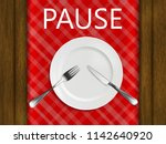 how to use cutlery to signal...   Shutterstock .eps vector #1142640920
