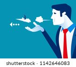 managers push their employee to ... | Shutterstock .eps vector #1142646083