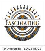 fascinating arabic style badge. ... | Shutterstock .eps vector #1142648723