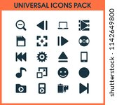 multimedia icons set with slow... | Shutterstock . vector #1142649800