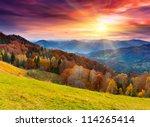 The Mountain Autumn Landscape...