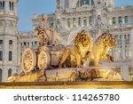cibeles fountain located... | Shutterstock . vector #114265780