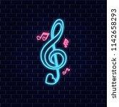 music of love. neon happy... | Shutterstock . vector #1142658293