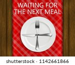 how to use cutlery to signal...   Shutterstock .eps vector #1142661866