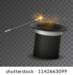 vector realistic magic wand and ... | Shutterstock .eps vector #1142663099