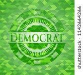 democrat realistic green... | Shutterstock .eps vector #1142664266