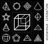 set of 13 simple editable icons ... | Shutterstock .eps vector #1142667146