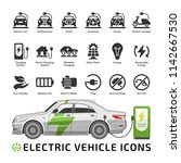 electric car vector mockup with ... | Shutterstock .eps vector #1142667530