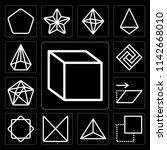 set of 13 simple editable icons ... | Shutterstock .eps vector #1142668010