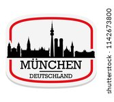 munich germany label stamp icon ... | Shutterstock .eps vector #1142673800