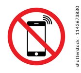 not use mobile phone. no...   Shutterstock .eps vector #1142673830