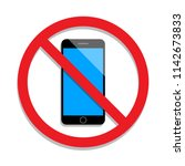 not use mobile phone. no...   Shutterstock .eps vector #1142673833