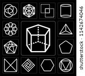 set of 13 simple editable icons ... | Shutterstock .eps vector #1142674046