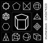 set of 13 simple editable icons ... | Shutterstock .eps vector #1142674223