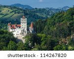 the medieval castle of bran.... | Shutterstock . vector #114267820
