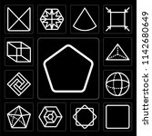 set of 13 simple editable icons ... | Shutterstock .eps vector #1142680649